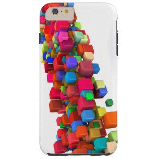 Hintergrund-Entwurf mit bunten Regenbogen-Blöcken Tough iPhone 6 Plus Hülle