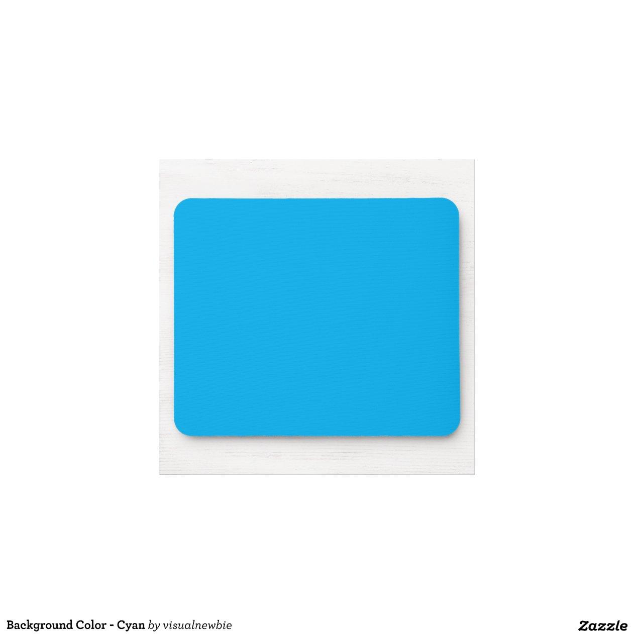 hintergrund farbe cyan blau mauspads zazzle. Black Bedroom Furniture Sets. Home Design Ideas