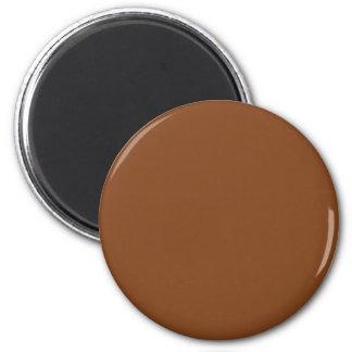 Hintergrund-Farbe - Kupfer Runder Magnet 5,1 Cm