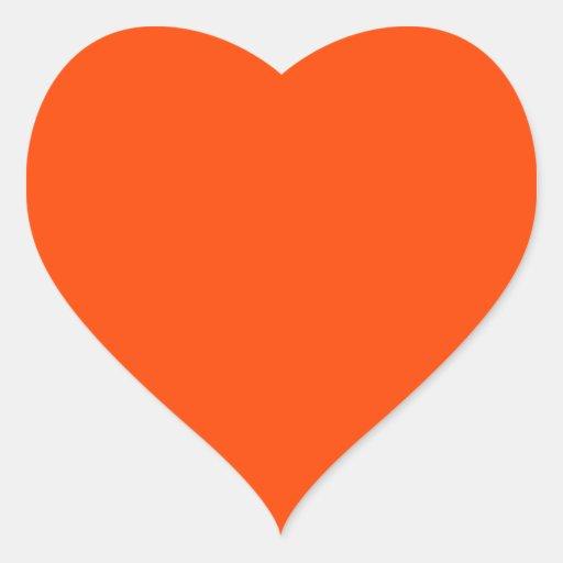 Hintergrund-Farborange Herz Aufkleber