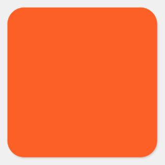 Hintergrund-Farborange Quadrataufkleber