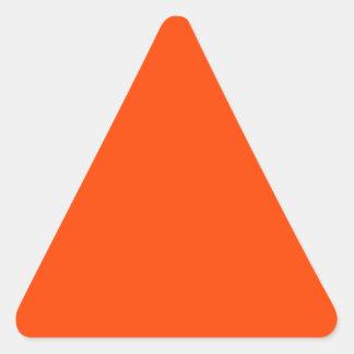Hintergrund-Farborange Dreieckiger Aufkleber