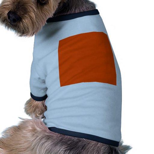 Hintergrund-Farborange Hund T-shirt