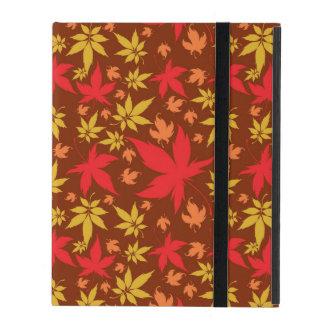 Hintergrund mit buntem Herbst-Blätter iPad Schutzhüllen