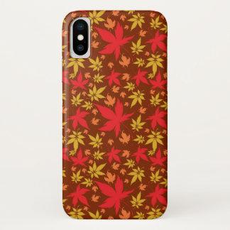 Hintergrund mit buntem Herbst-Blätter iPhone X Hülle