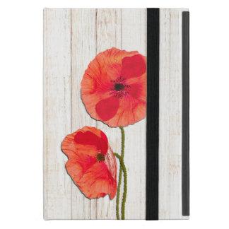 Hintergrund-Mohnblumen-Blumen der roten Hülle Fürs iPad Mini