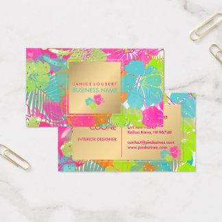 Hintergrund PixDezines Hibiskus/rainforest/DIY Visitenkarte