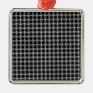Hintergrund Quadratisches Silberfarbenes Ornament