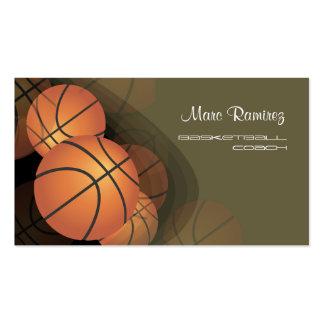 Hintergrundfarbe PixDezines Basketballs Coach DIY Visitenkartenvorlagen