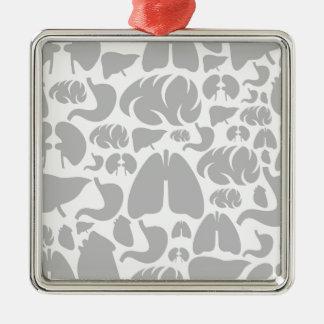 Hintergrundteil body3 quadratisches silberfarbenes ornament
