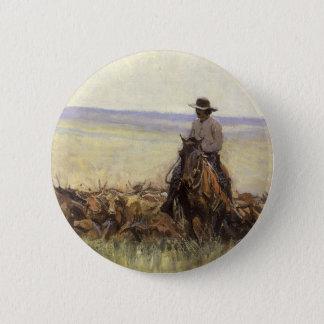 Hinterherde nach Wyoming durch WHD Koerner Runder Button 5,7 Cm