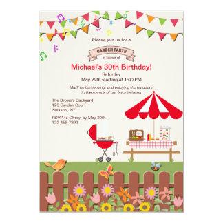 Hinterhof-Garten-Party Einladung