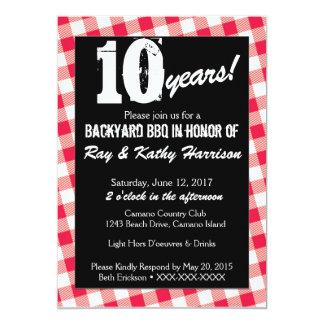 Hinterhof-Picknick-Jahrestags-Einladungs-Schablone 12,7 X 17,8 Cm Einladungskarte