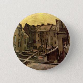 Hinterhöfe der alten Häuser durch Vincent van Gogh Runder Button 5,1 Cm