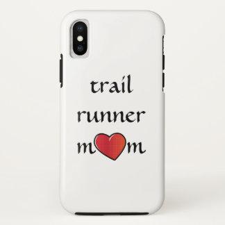 Hinterläufer-Mamma-roter Herz-Entwurf iPhone X Hülle