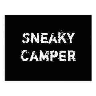 Hinterlistiger Camper. Gamer Postkarten