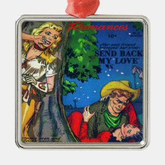 Hinterlistiges Cowgirl Silbernes Ornament