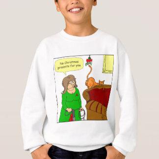 Hinternmistelzweig WeihnachtsCartoon der Katze x55 Sweatshirt