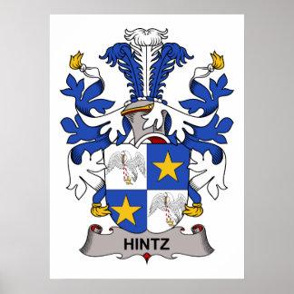 Hintz Familienwappen Posterdruck