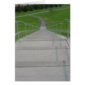 Hinunter die Treppe Karte