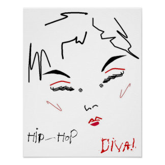 Hip-Hop-Diva Plakatdruck