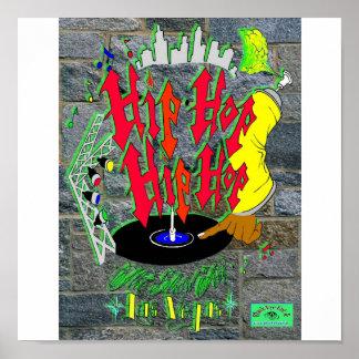 Hip-Hop-Hip-Hopplakat Plakat