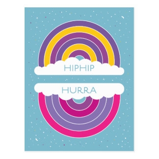 Hiphip Hurra Postkarte
