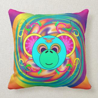 Hippie-Affe-buntes psychedelisches Regenbogen-Tier Kissen