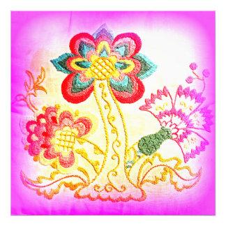 Hippie-ähnlicher rosa Palme-Fotodruck Kunstfoto
