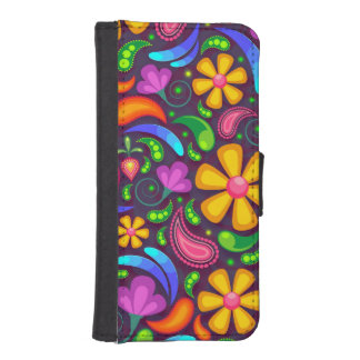 Hippie-Blume - iPhone Fall iPhone SE/5/5s Geldbeutel