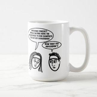 """Hippie """"Didgeridon't"""" T-Stück Kaffeetasse"""