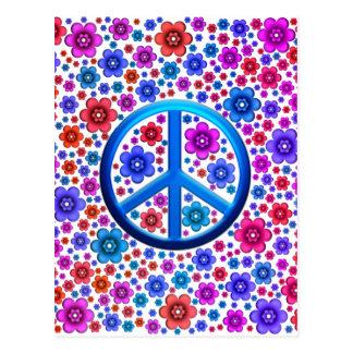 Hippie-Friedenszeichen Postkarte