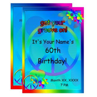 Schön Schön Einladung Hippie Party . Hippie Geburtstags Gewohnheits Einladung  Karte