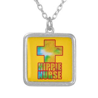 Hippie-Krankenschwester Versilberte Kette