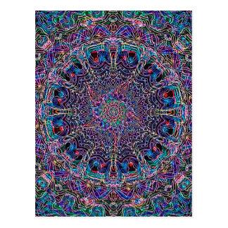 Hippie-Kunst Psychadelic Druck Postkarte
