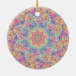 Hippie-Muster verziert 6 Formen Keramik Ornament