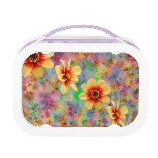 Hippie-psychedelisches Blumen-Muster Brotdose