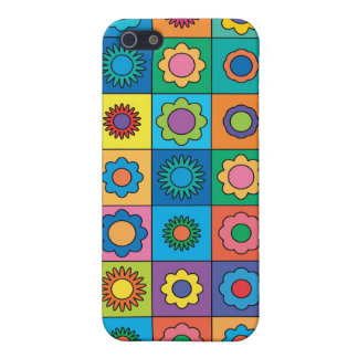 Hippie-Regenbogen-Blumen-Muster iPhone 5 Cover
