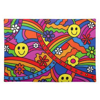 Hippie-Regenbogen-Muster Tischset