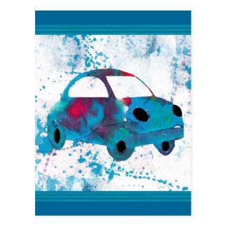 Hippie-Retro Auto-Buggy Postkarte