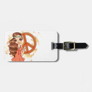 Hippie-Rose Kofferanhänger