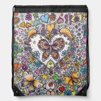 Hippie-Schmetterlings-Rucksack Sportbeutel