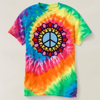 Hippie-T-Stück Krawatten-Friedenszeichen T-shirt