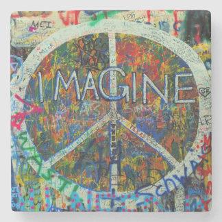 Hippie-Wand-Kunst Steinuntersetzer
