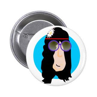 hippieface Button