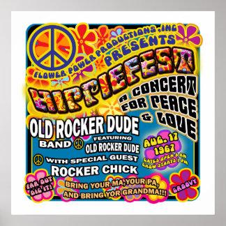 Hippiefest Konzert-Plakat Poster