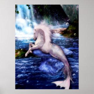 Hippocamp Merhorse Fantasie-pferdeartige Kunst Poster