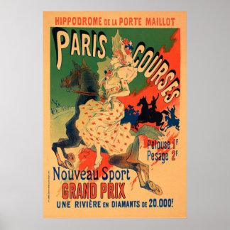 Hippodrome de Porte Maillot, Paris kursiert Poster