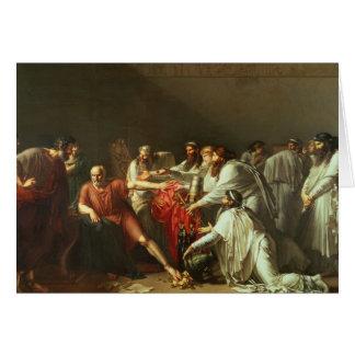 Hippokrates, der die Geschenke von Artaxerxes I Karte