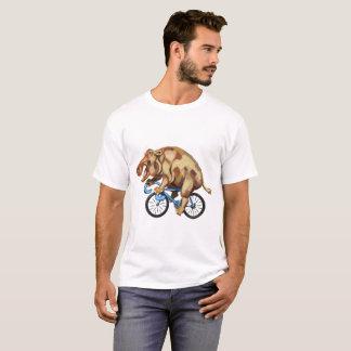 Hippopotamus auf einem Fahrrad T-Shirt